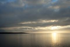 The Yenisei river sunset